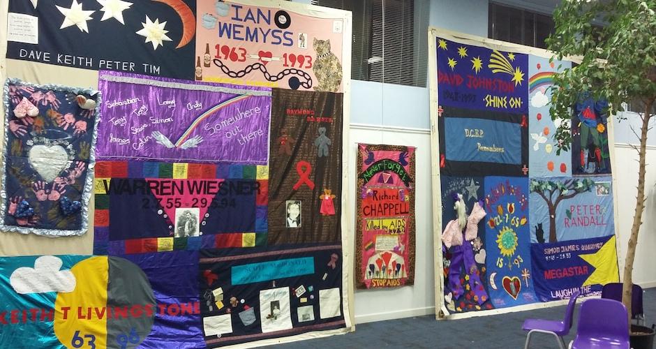 slider image - aids memorial quilt